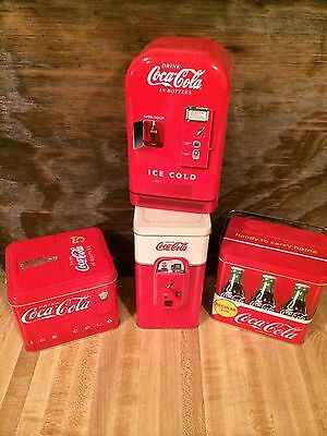 4 Coca-Cola Tin Containers