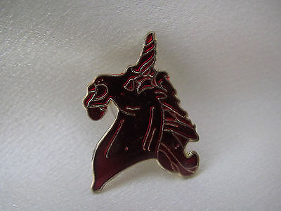 Red Unicorn lapel pin. Bright red very nice collector pin New