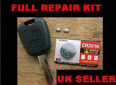 Peugeot 106 206 307 Remote Key Fob Repair Kit With Battery And Micro Switches