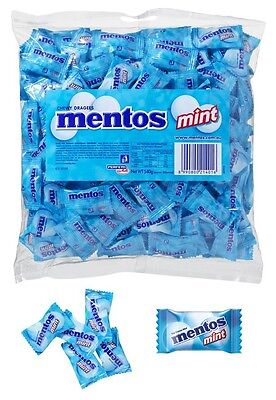 Mentos BLUE Mint Pillow Pack 540g Minty Chews Buffet Candy Lollies Sweets Favors