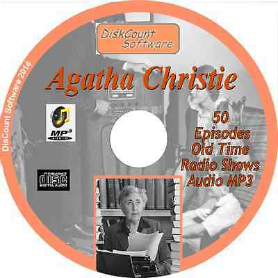 Agatha Christie - 50 Old Time Radio Shows - Audio MP3 CD OTR