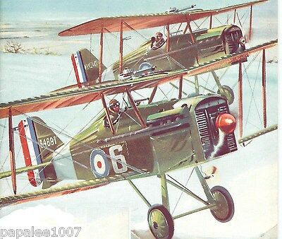 """Model Airplane Plans: SE-5a 1/12 Scale 26½"""" FF for .5 - .8cc (.049ci) Engine"""