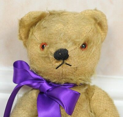"""Vintage/Antique 1950s Chad Valley English Mohair Jointed Old Teddy Bear 11"""" Tall"""