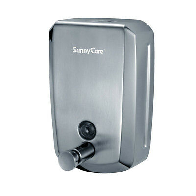 SunnyCare#S1000 Stainless Steel Wall-mounted Manual Soap Dispenser Volume:1000ml