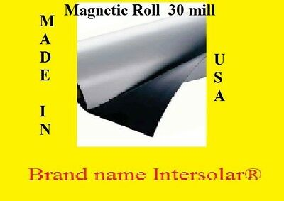 "1 Roll of White Blank Magnet 12""wide x 5' Feet  long High quality USA  $19.90"