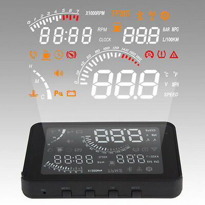 Car Vehicle-mounted HUD HeadUp Display System with Humanity Speaking & Reminding