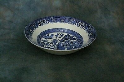 Wood & Sons, Enoch, Woods Ware, Blue Willow (older) Round Vegetable Bowl 8.25''