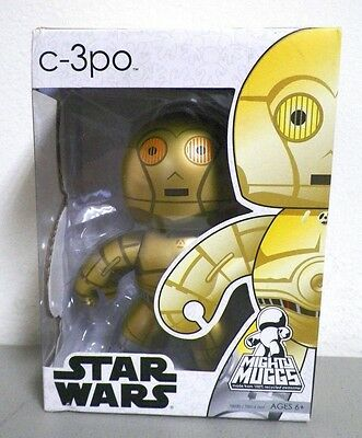 "New Hasbro Mighty Muggs Star Wars C-3Po Action Figurine Nib 6"" Tall"