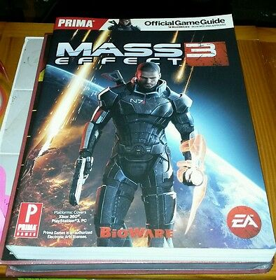 MASS EFFECT 3 FIRST EDITION OFFICIAL STRATEGY GUIDE BOOK PRIMA BRAND NEW