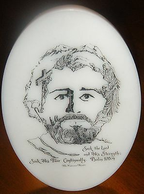 The Face of Jesus Christ Etching Plaque Handcrafted Tennessee Mint Joe Castillo