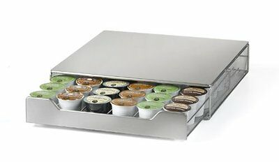 Nifty Stainless Steel Coffee Pod Drawer  Holds 36 K-Cup Packs