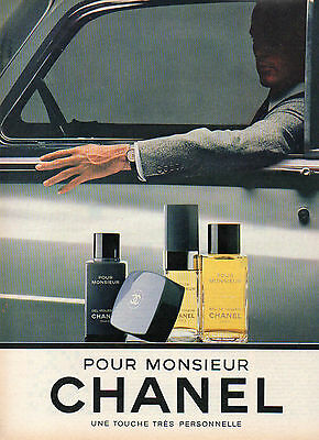 Publicité Advertising 1983  Parfum POUR MONSIEUR de CHANEL