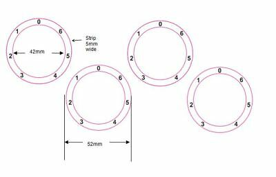 Stove Cooker Hob Dial Knob Numbers Stickers With Zero At Top