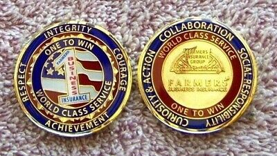 2 PAIR   ( 4 pieces )      Farmers Insurance Group  Award  COINS