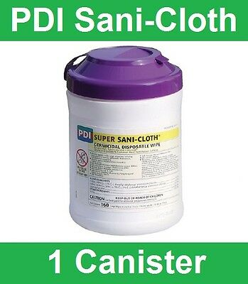 "Super Sani-Cloth Hard Surface Disinfectant Wipes, Pull-Up, 6""x7"", 160/PK, Q55172"