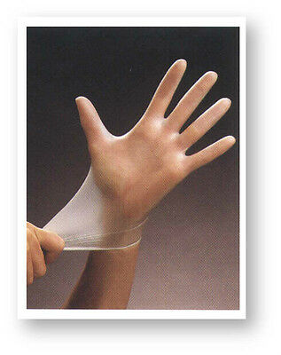 300 Vinyl Disposable GLOVES Powder Free - 3 boxes of 100 - MEDICAL GRADE EXAM