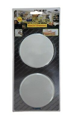 2PC 3.15 Door Knob Wall Shield Guard Protector Round Self Adhesive Prevent Holes