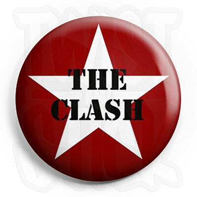 The Clash - Star - Button Badge - 25mm Punk Badges with Fridge Magnet Option