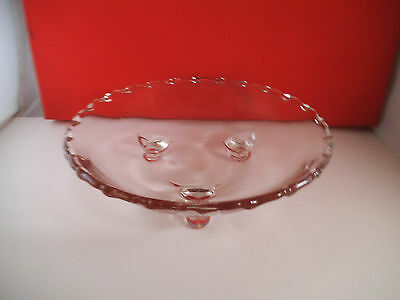 Vintage Fostoria Century Clear Glass Three Toed Footed Bowl