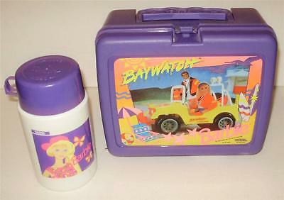 Barbie Baywatch Thermos Plastic Lunchbox with Thermos Good Clean Free Shipping