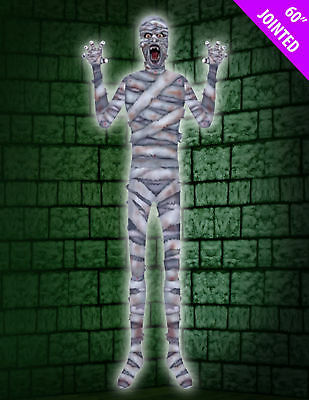 Giant XXL Mummy Zombie 152 cm Jointed Halloween Hanging Party Decoration
