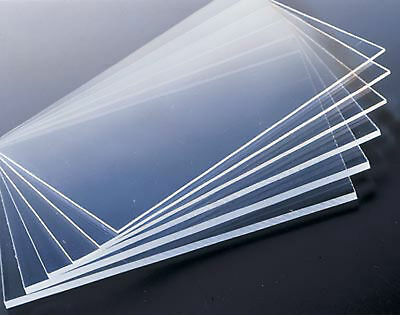 2pcs CLEAR ACRYLIC SHEETS TRANSPARENT PMMA PANELS 100mm * 100mm * 1mm #E6-M1