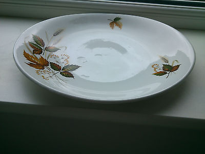 Platter, Autumn Leaves, Ironstone, Washington Pottery Ltd. 29cm x 25.2cm