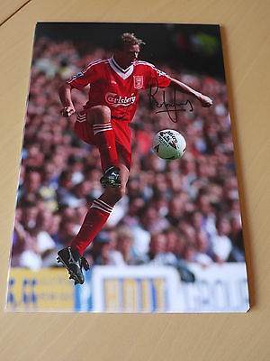 Rob Jones Signed 12x8 Liverpool FC Photo - Private Signing - Proof