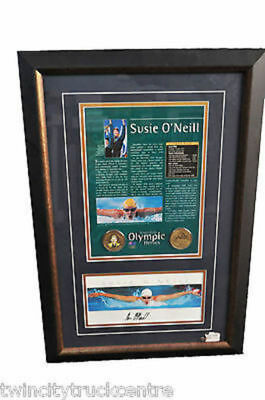 SUSIE O'NEILL FRAMED PRINT WITH MEDALS AND AUTHENTICATION (59cm X 40cm)