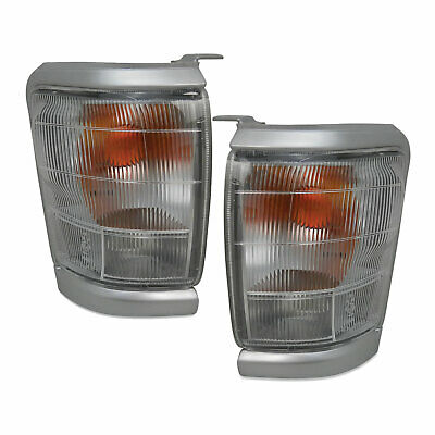 Toyota Hilux 2WD 97-01 Pair Of Front Corner Park / Indicator Lights Silver New