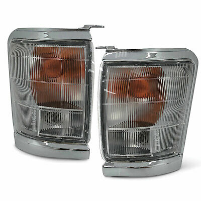 Toyota Hilux 2WD 97-01 Pair Of Front Corner Park / Indicator Lights Chrome Trim