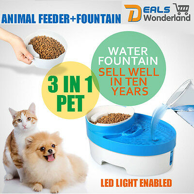 Automatic Pet Dog Cat Drinking Water Fountain Bowl Feeder Filter Drinker Health