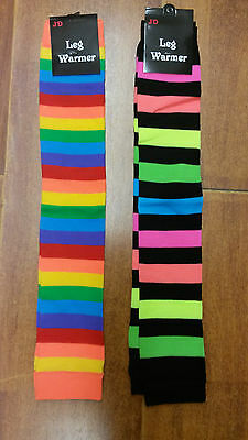 Rainbow Leg warmers/warmer party costume girls party/dancing
