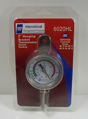 """IRP 6020HL 2"""" Hanging Bracket Thermometer Remote Reading -40 to 68 Degree"""