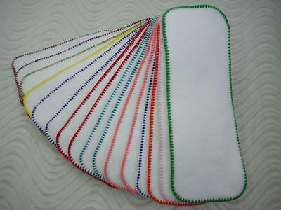 3 layers Cloth Diaper Liner Insert Soaker Doubler Bamboo Cotton Fleece Hemp