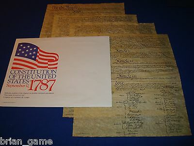 Constitution, U S A , Sept, 17 1787 * 4 Pages * Replica