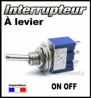 934B# interrupteur à levier 1 circuit 2 positions ON - OFF  <> 1 à 100pcs