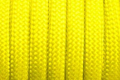 Yellow 550 Paracord Mil Spec Type III 7 strand parachute chord 100'