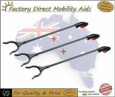 3 x Basic Easy reacher s Grab stick - Pick up Stick  Top Quality Direct Importer