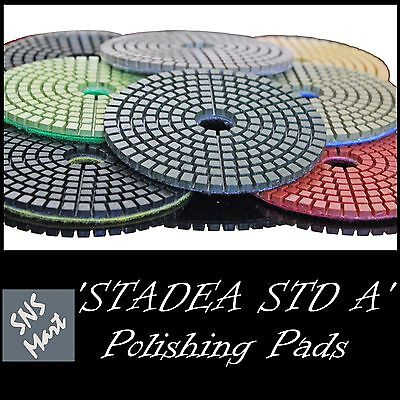 STADEA 5 Inch Wet Diamond Polishing Pads Sanding Disc Concrete Stone - Grit 30