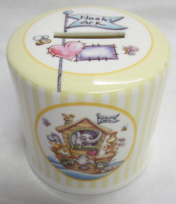 Noah's Ark Ceramic Money Box Keepsake in Decorative Gift Box Great New Baby Gift