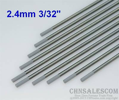 "10 pcs WC20 2.4X150mm 3/32""X6"" Ceriated Tungsten Electrode Grey"
