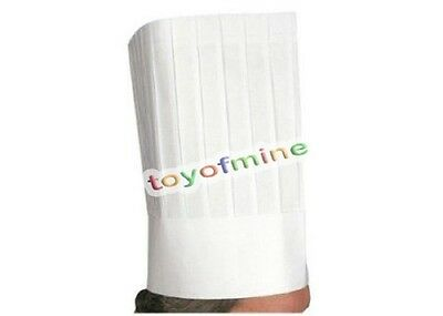 """9"""" / 12"""" inch White Disposable Chef Hat Catering Hats Food Serving paper Hat US"""