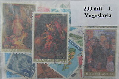 Yugoslavia, 200 stamps in packet (ww020)