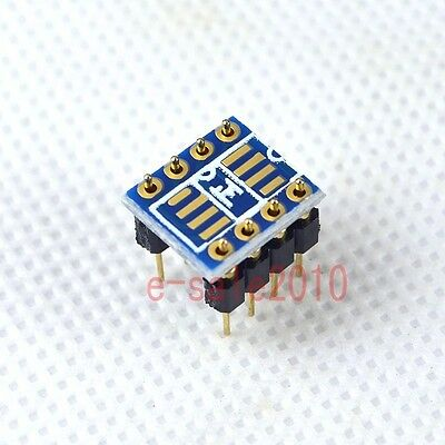 2pcs Dual SOIC8 SOP8 to DIP8 Adapter Converter PCB+Pin to Mono Opamp OPA627 P10
