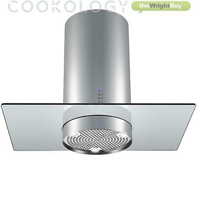 Cookology CYL900GL 90cm Cylinder Island Cooker Hood | Stainless Steel & Glass