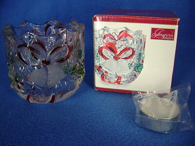 Celebrations by Mikasa Christmas Holiday Bells Collection Votive NIB 2009