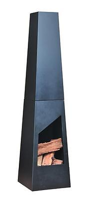Nevados Steel Chimenea Fire Pit Outdoor Firepit Patio Heater Fireplace Chiminea