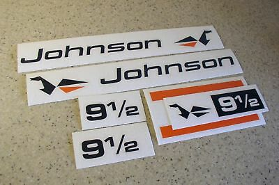 Johnson Outboard Motor Vintage Decal 9-1/2 HP FREE SHIP + FREE Fish Decal!