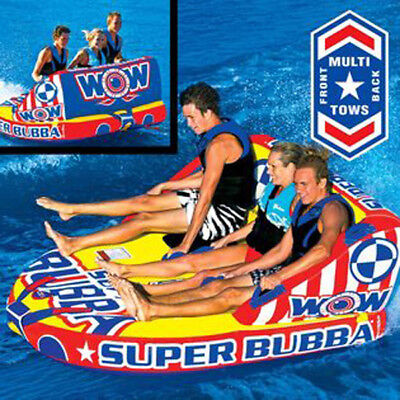 WOW Super Bubba Towable Ski Tube Inflatable Biscuit Boat Ride